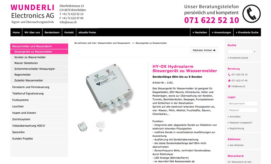 Tradino Referenz Wunderli Electronics Ag