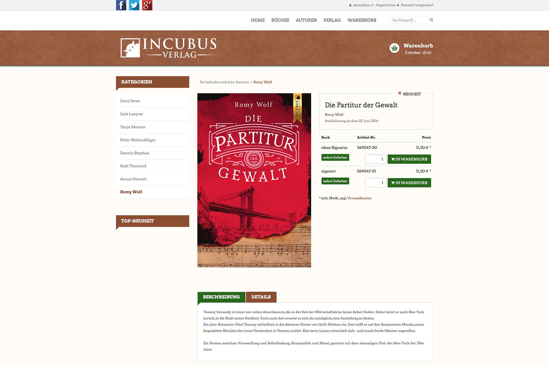Tradino Referenz Incubus Verlag 2